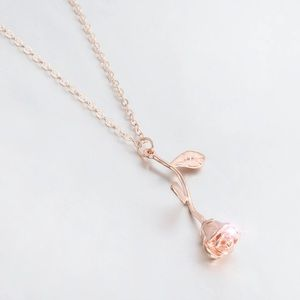 New Rose Gold Floral Necklace
